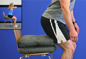 Knee arthritis exercises - site to stand