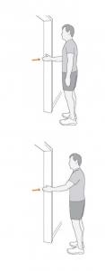 shoulder pain exercises - isometric holds
