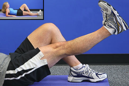 Knee arthritis exercises - straight leg raise